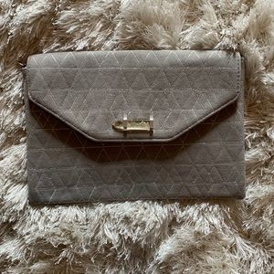 Stella and Dot Grey Clutch